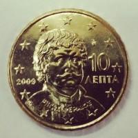 10 евроцентов 2009 год. Греция