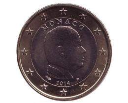 2 Евро 2014 год. Монако. Князь Альбер II.