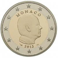 2 Евро 2015 год. Монако. Князь Альбер II.