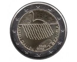 2 евро 2015 год. Финляндия. 150 лет со дня рождения художника Аксели Галлен-Каллела.