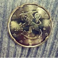 20 Евроцентов 2012 год. Финляндия.