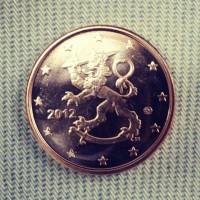 5 евроцентов 2012 год. Финляндия
