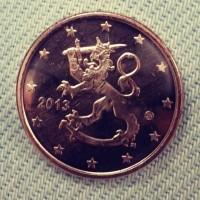 5 евроцентов 2013 год. Финляндия