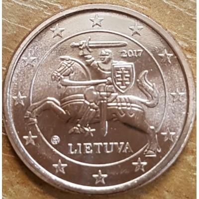 1 евроцент 2017 год. Литва.