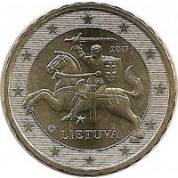 10 евроцентов 2017 год. Литва.