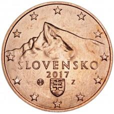 5 Евроцентов 2017 год. Словакия