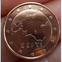 1 евроцент 2017 год. Эстония