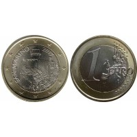 1 евро 2017 год. Сан-Марино (новый тип)