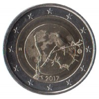 2 евро 2017 год. Финляндия. Финская природа.