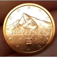 2 евроцента 2016 год. Словакия