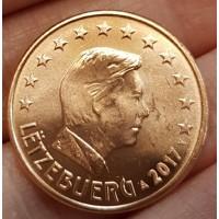 5 Евроцентов 2017 год. Люксембург