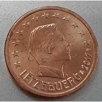 1 евроцент 2017 год. Люксембург