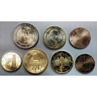 Австрия. Набор евро монет 2017 год (7 монет)