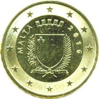 10 евроцентов 2016 год. Мальта