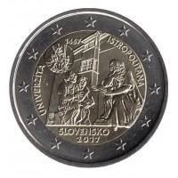 2 евро 2017 год. Словакия. 550-летие Истрополитанского Университета.
