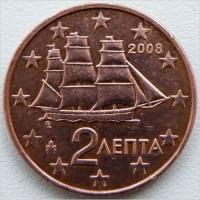 2 евроцента 2008 год. Греция