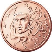 5 Евроцентов 1999 год. Франция