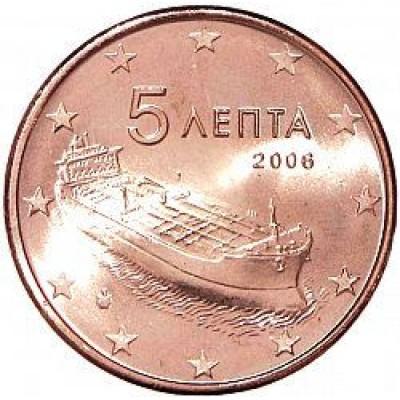 5 евроцентов 2006 год. Греция