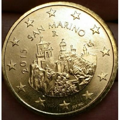 50 евроцентов 2015 год. Сан-Марино.