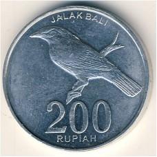Индонезия 200 рупий 2003 года.