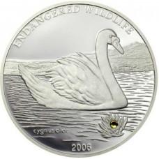 Монголия 500 тугриков 2006 год. Лебедь. (Копия)