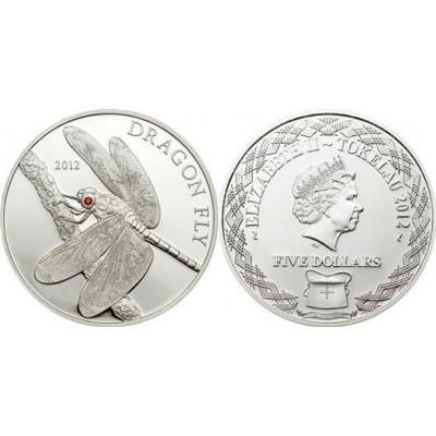 Токелау 5 долларов 2012 год. Стрекоза (Копия)