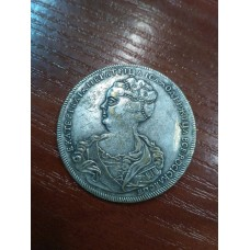 1 рубль 1725 год. Екатерина I. Портрет влево. КОПИЯ