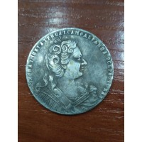 1 рубль 1729 год, Пётр II, КОПИЯ.