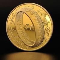 1 доллар 2003 год. Новая Зеландия. Властелин колец. КОПИЯ