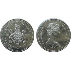 1 доллар 1971 год. Канада. Британская Колумбия, серебро