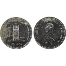 1 доллар 1977 год. Канада. 25-летие коронации Елизаветы II, серебро