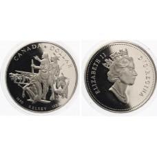 1 доллар 1990 год. Канада. Генри Келси, серебро