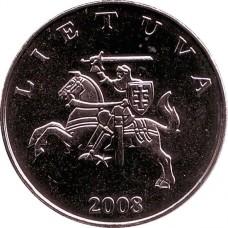 1 лит 2008 год. Литва.