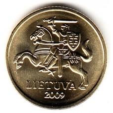 10 центов 2009 год. Литва.