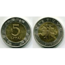 5 литов 2009 год. Литва.