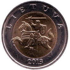 5 литов 2013 год. Литва.
