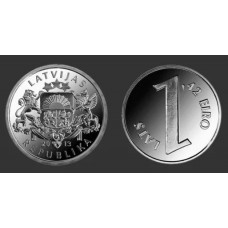 1 лат 2013 год. Латвия. Монета Паритета