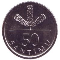 50 сантимов 2009 год. Латвия
