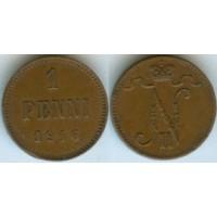 1 пенни 1916 год. Русская Финляндия. Николай II