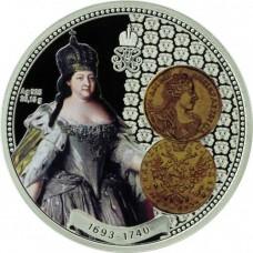 Ниуэ 1 доллар 2013 год. Анна Иоановна, Серебро