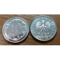10 грошей 2015 год. Польша