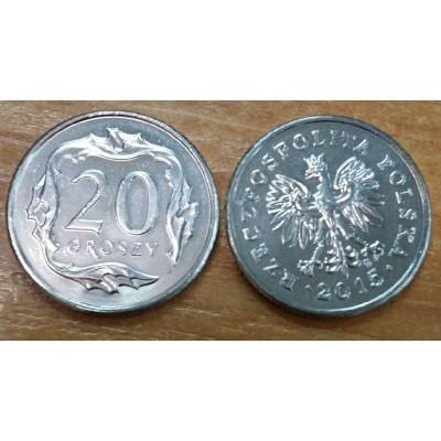20 грошей 2015 год. Польша