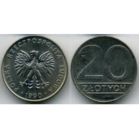 20 злотых 1990 год. Польша