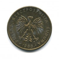 5 злотых 1988 год. Польша.