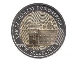 5 злотых 2016 год. Польша. Замок князей Поморских в Щецине