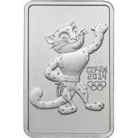 3 рубля 2011 год. Россия. Олимпиада в Сочи. Леопард (ммд)