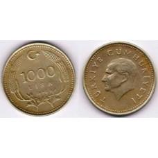 1000 лир 1990 год. Турция.