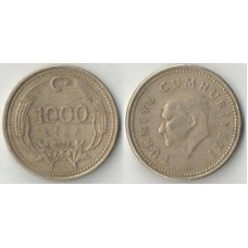 1000 лир 1993 год. Турция.