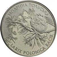 2 гривны 2001 год. Украина. Модрина польская.