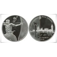 2 гривны 2012 год. Украина. Паралимпийские игры.